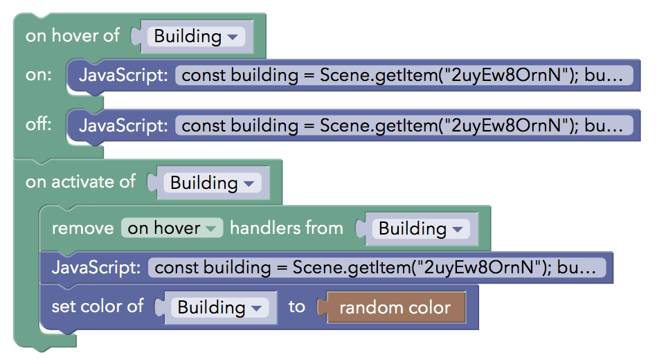 Creating objects on event in random colours - Coding - CoSpaces Edu